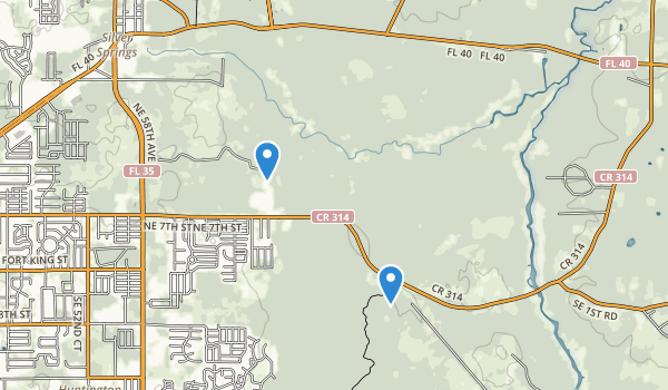 trail locations for Silver River State Park