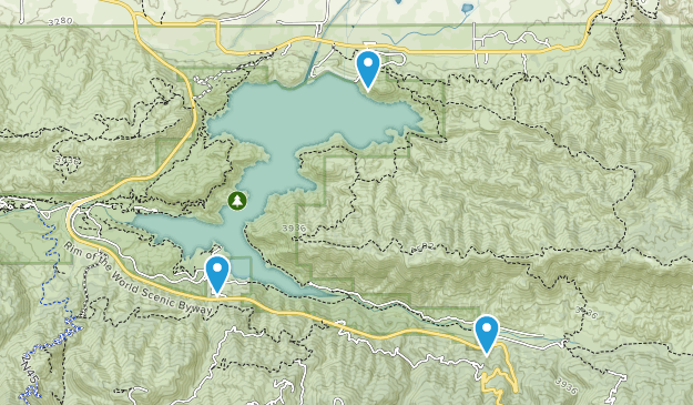 Silverwood Lake State Recreation Area Map