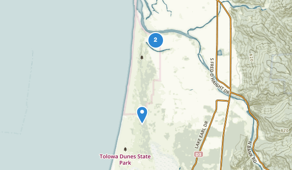 trail locations for Tolowa Dunes State Park