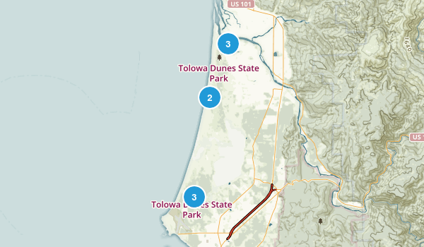 Tolowa Dunes State Park Map