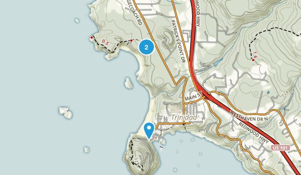 Trinidad State Beach Map