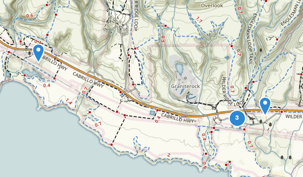 trail locations for Wilder Ranch State Park