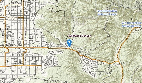 trail locations for Wildwood Canyon