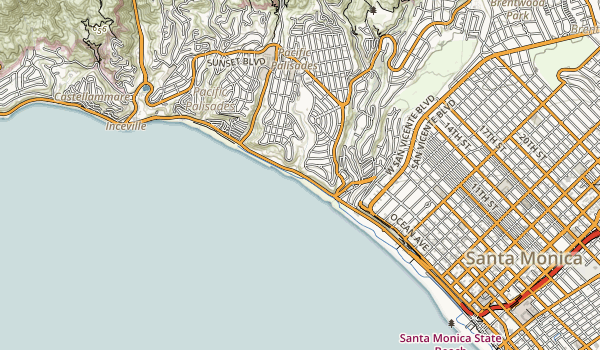 Will Rogers State Beach Map
