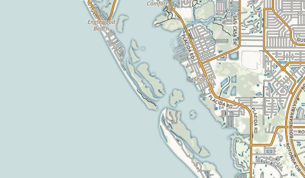 Stump Pass Beach State Park Map