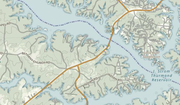 Elijah Clark State Park Map