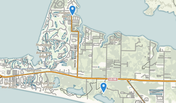 trail locations for Topsail Hill Preserve State Park