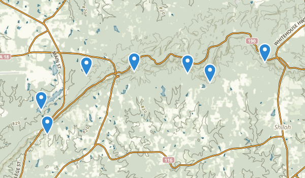 trail locations for F.D. Roosevelt State Park