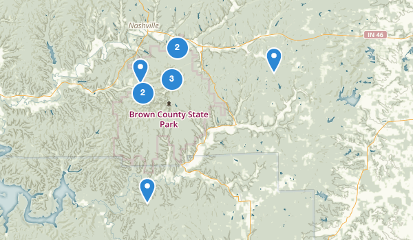 trail locations for Brown County State Park