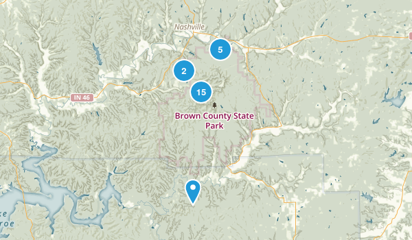 Brown County State Park Map