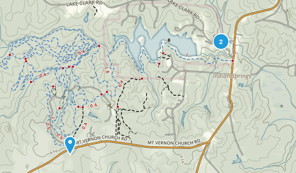 Indian Springs State Park Map