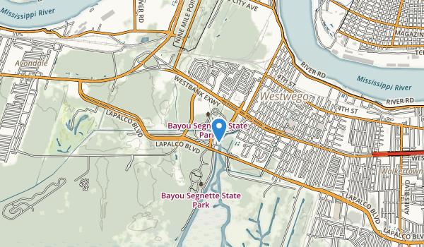 Bayou Segnette State Park Map