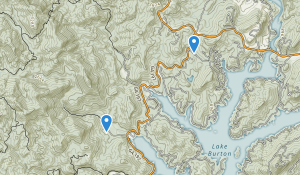 trail locations for Moccasin Creek State Park