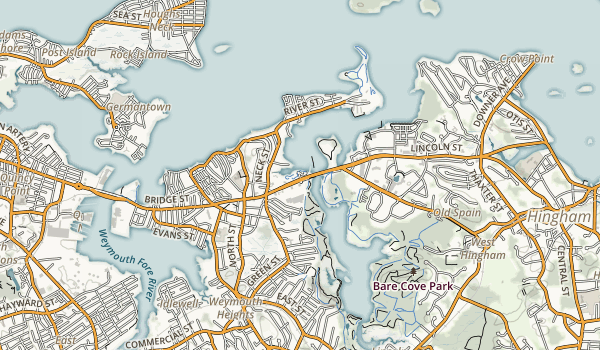 Stodder's Neck/Abigail Adams Park Map