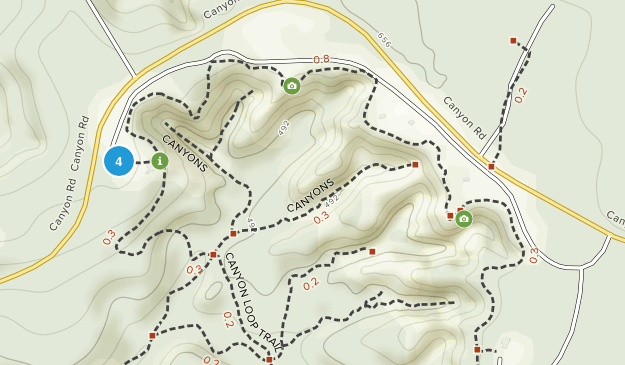 Providence Canyon State Outdoor Recreation Area Map