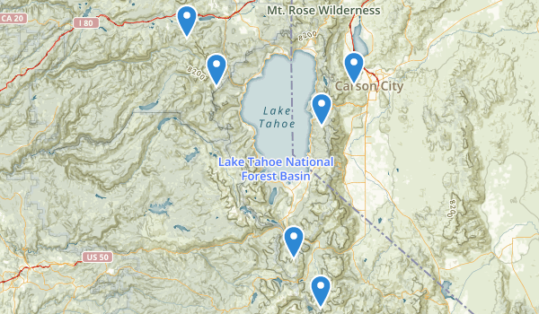trail locations for Lake Tahoe-Nevada State Park