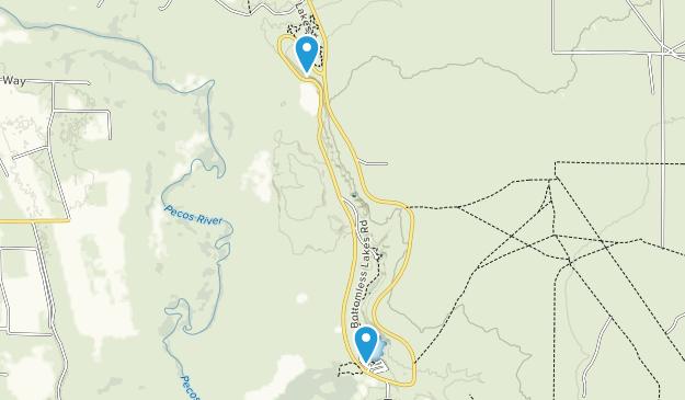 Parque Estatal de Bottomless Lakes Map