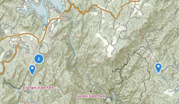 Gorges State Park Map