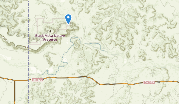 trail locations for Black Mesa State Park & Nature Preserve
