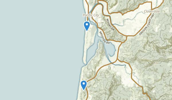 trail locations for Bob Straub State Park