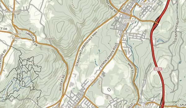 Archbald Pothole State Park Map