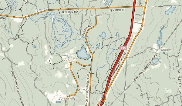 Beach Pond Recreation Area Map