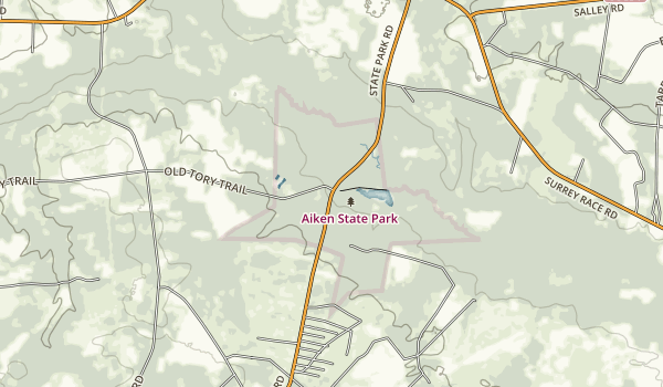 Aiken State Natural Area Map