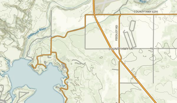 Angostura Recreation Area Map