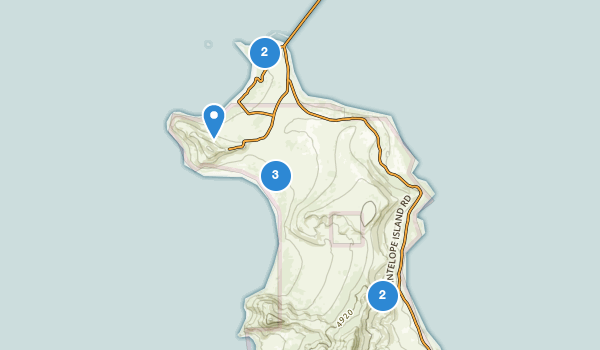 trail locations for Antelope Island State Park