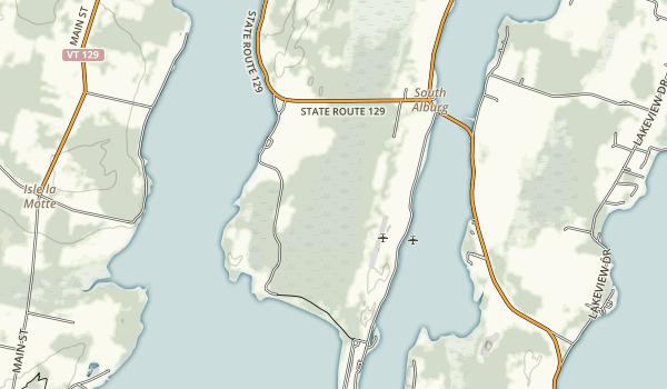 Alburg Dunes State Park Map