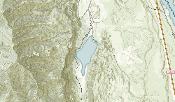 trail locations for Alta Lake State Park