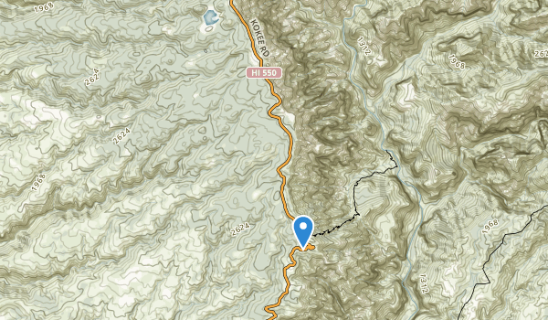 trail locations for Waimea Canyon State Park