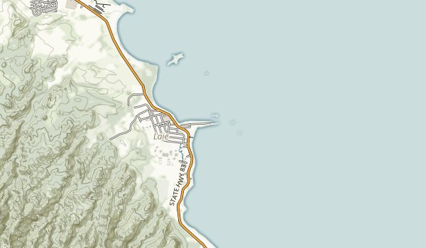 La'ie Point State Wayside Map