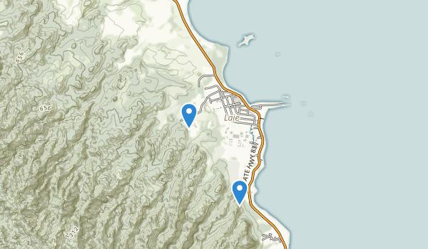 trail locations for Malaekahana State Recreation Area