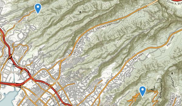 Pu'u 'Ualaka'a State Wayside Map