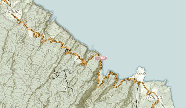Kaumahina State Wayside Map