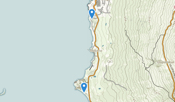 trail locations for Makena State Park