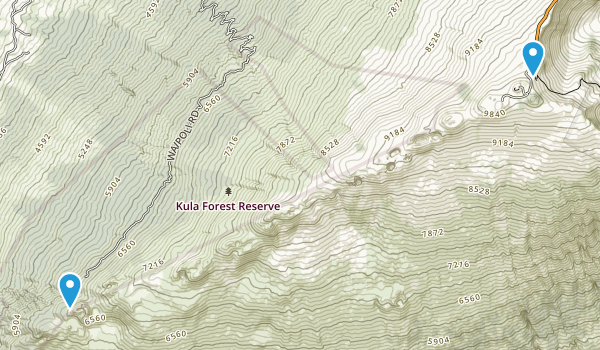 Polipoli Spring State Recreation Area Map