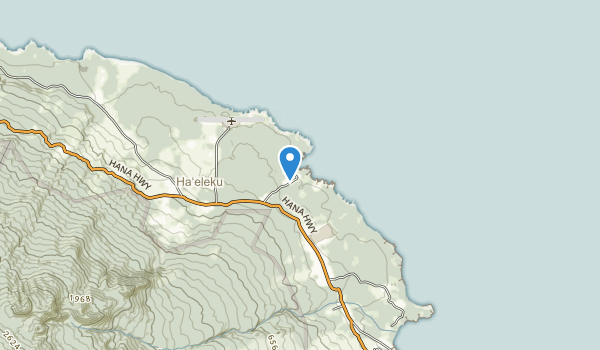 trail locations for Waianapanapa State Park