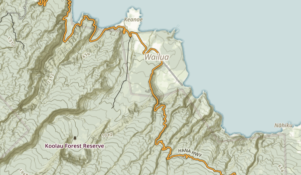 Wailua Valley State Wayside Map