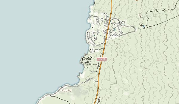 Hapuna Beach State Recreation Area Map