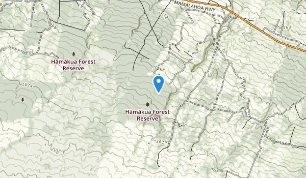 Kalopa State Recreation Area Map