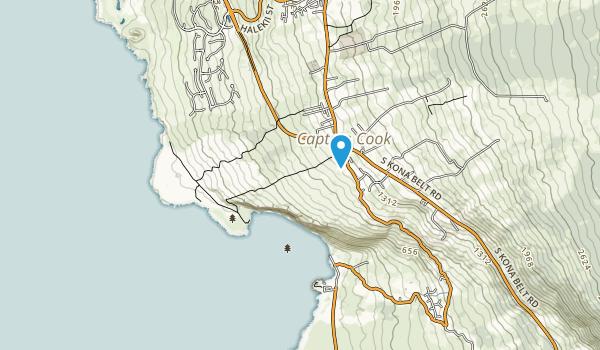 Kealakekua Bay State Historical Park Map