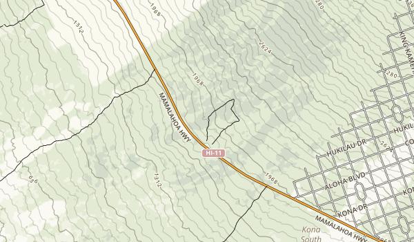 Manuka State Wayside Map