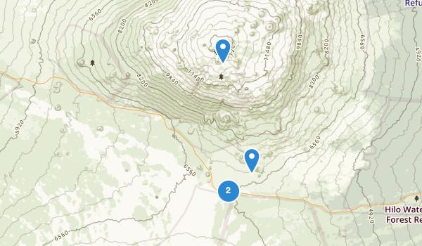 trail locations for Mauna Kea State Recreation Area