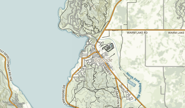 Lake Cascade State Park Map
