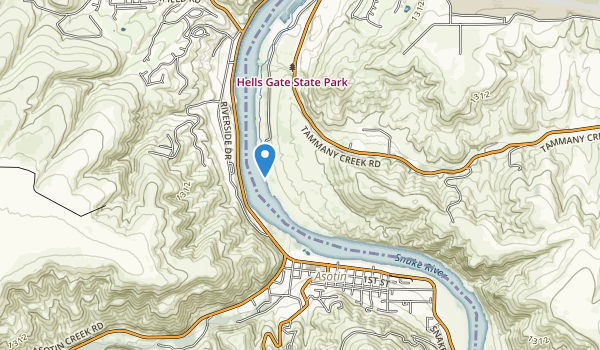 Hells Gate State Park Map