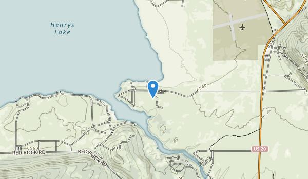 Henrys Lake State Park Map