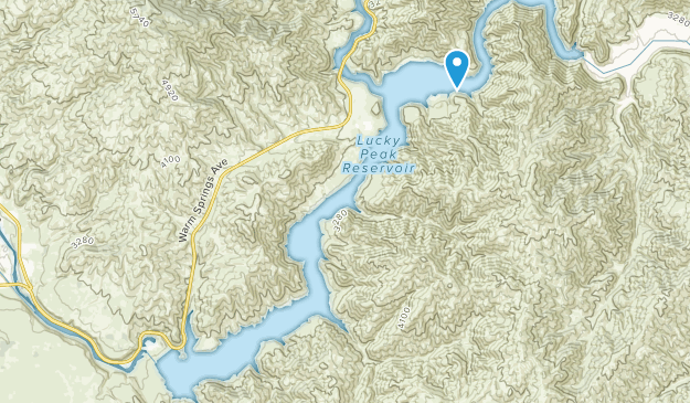 Lucky Peak State Park Map