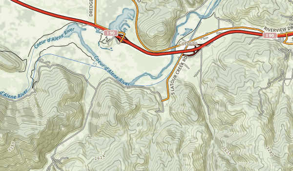 Trail of the Coeur d'Alenes Map